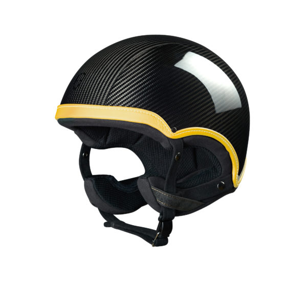 Collection Epona Course Epona Course Carbon Jaune Bouton d'Or casque design made in france